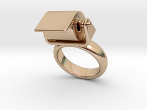 Toilet Paper Ring 24 – Italian Size 24 in 14k Rose Gold Plated