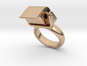 Toilet Paper Ring 25 – Italian Size 25 in 14k Rose Gold Plated