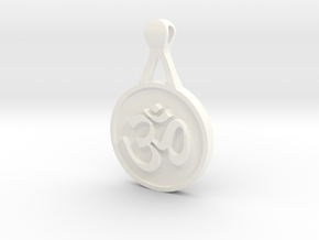 Om Pendant in White Strong & Flexible Polished