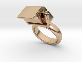 Toilet Paper Ring 30 – Italian Size 30 in 14k Rose Gold Plated