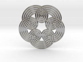 0533 Motion Of Points Around Circle (5cm) #010 in Premium Silver