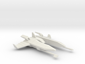 Fighter Ship in White Strong & Flexible