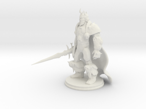 Arthas: Lich King from World of Warcraft (cape)  in White Strong & Flexible
