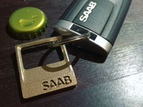 SAAB - Key Ring Pendant Bottle Opener in Stainless Steel