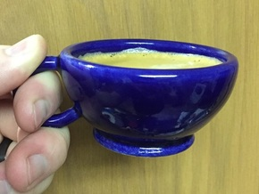 Semisphere Espresso Cup in Gloss Cobalt Blue Porcelain