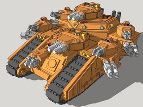 6mm StormMallet Superheavy Sci-Fi Tank in Frosted Ultra Detail