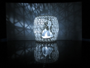 Tea Light  in White Strong & Flexible Polished