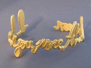 I Love You More Than Bacon Bracelet in Matte Gold Steel