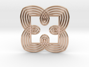 0550 Motion Of Points Around Circle (5cm) #027 in 14k Rose Gold Plated