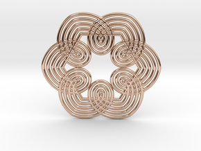 0555 Motion Of Points Around Circle (5cm) #032 in 14k Rose Gold Plated