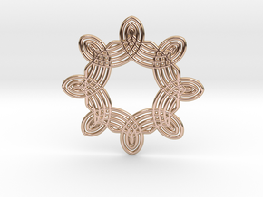 0561 Motion Of Points Around Circle (5cm) #038 in 14k Rose Gold Plated