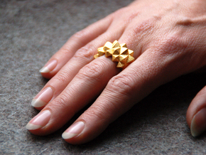 Ring Studs in Matte Gold Steel