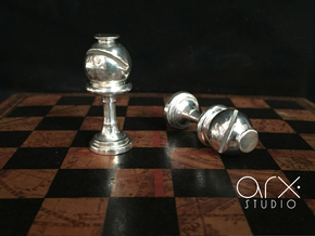 Bishop (Inception) Cufflinks in Polished Silver