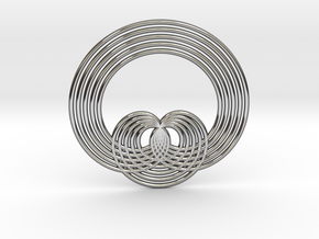 0569 Triple Rotation Of Points (5 cm) #001 in Premium Silver