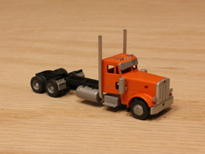 1:160 N Scale Peterbilt 379 Tractor w/ 20.5' WB in Frosted Ultra Detail