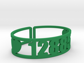 Echo Lake Zip Code Cuff in Green Strong & Flexible Polished