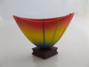 Stretching Rubber: Neo-Hookean Elasticity in Full Color Sandstone
