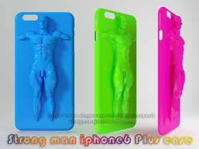 IPhone6 Plus Case Strong Man 002 in White Strong & Flexible