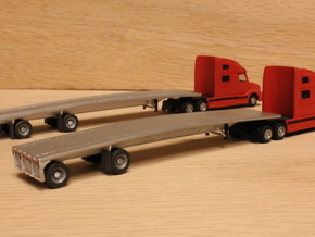 1:160 N Scale MAC 53' Flatbed Trailer in Frosted Ultra Detail