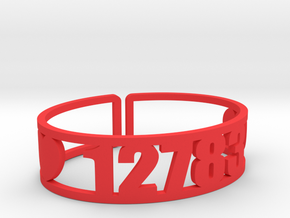 Chipinaw Zip Code Cuff in Red Strong & Flexible Polished