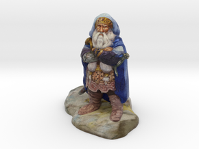 """Dwarf of Oak Shield"" - 4 inches in Full Color Sandstone"