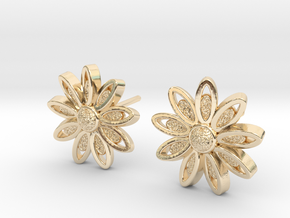 Spring Blossom 5 - Earrings in 14K Gold