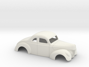 1/16 1940 Ford Coupe Stock in White Strong & Flexible