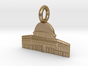 Dome of the Rock, Jerusalem, Israel Charm in Polished Gold Steel