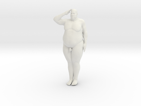 1/20 Fat Man 004 in White Strong & Flexible