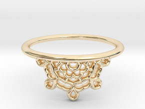 Half Lace Ring - Size 6.5 in 14k Gold Plated