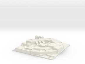 1/144 Death Star Tiles Set 1 (loop) in White Strong & Flexible