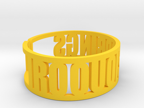 Iroquois Springs Cuff in Yellow Strong & Flexible Polished