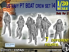 1-30 US Navy Sailor PT Boat Set 14 in White Strong & Flexible