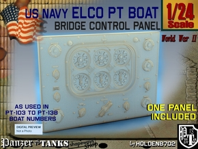 1-24 PT Boat Bridge Control Pannel Typ1 in Frosted Ultra Detail