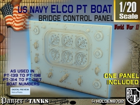 1-20 PT Boat Bridge Control Pannel Typ2 in Frosted Ultra Detail
