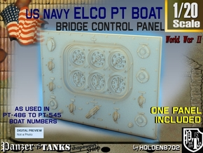 1-20 PT Boat Bridge Control Panel Typ4 in Frosted Ultra Detail