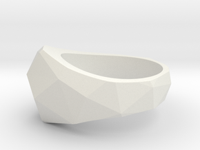 Low Poly Ring in White Strong & Flexible