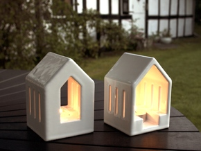 Lantern & Window in Gloss White Porcelain