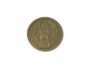Cthulhu Coin in Metallic Plastic