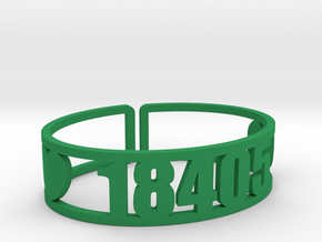 Trail's End Zip Cuff in Green Strong & Flexible Polished