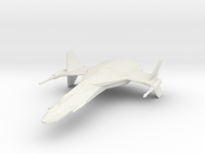 StarHawk Space Fighter Miniature in White Strong & Flexible