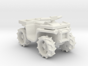 Quad ATV 1-87 HO Scale Style (Aggressive) 2.0 WSF in White Strong & Flexible