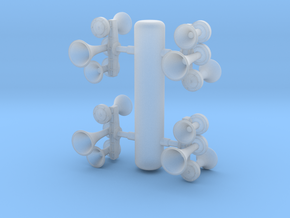 K3L Air Horn, Reversed 1/87.1 in Frosted Extreme Detail