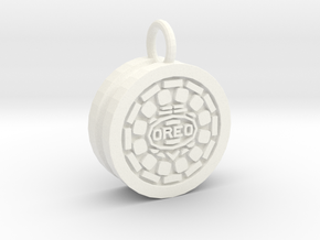 Oreo Friendship Pendant in White Strong & Flexible Polished