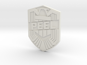 Peel Badge in White Strong & Flexible