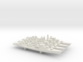 Daring-Class Destroyer x 4, 1/2400 in White Strong & Flexible