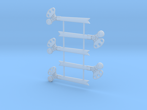 O Scale 3Pos. TO Semaphore Fishtail in Frosted Ultra Detail