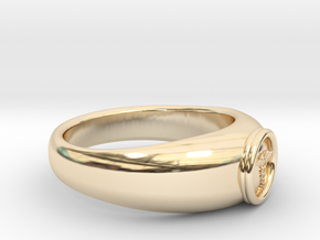 0.768 inch/19.51mm Medical Ring in 14k Gold Plated