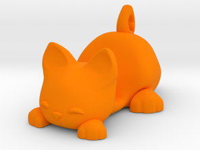 Smartphone Stand Cat in Orange Strong & Flexible Polished