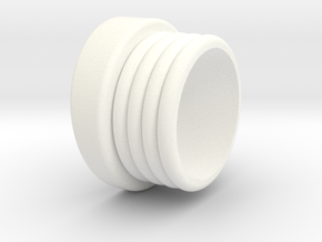 DS Emitter Bottom Base in White Strong & Flexible Polished